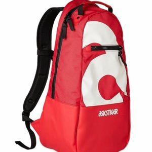 ASICS Tiger Big Logo Backpack Samba Red NWT